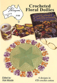 Image of Paragon book PARC122, Crocheted Floral Doilies, edited by Vicki Moodie.