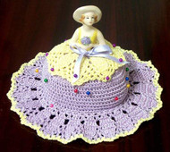 CMPATC046PDF - Pin Cushion Hat with Porcelain Doll