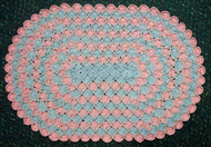 CMPATC045PDF - Two Tone Bavarian Stitch Oval Mat