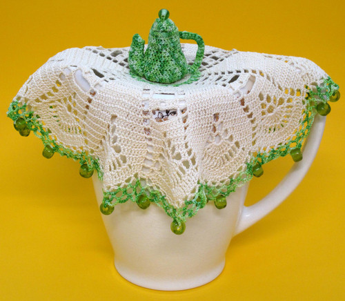Jug cover with teapot centre shown on jug