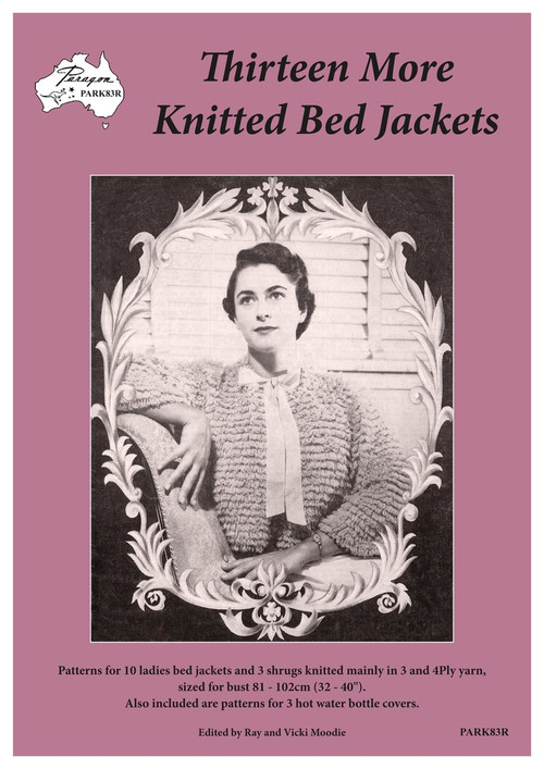 Cover image of Paragon knitting book PARK83R Thirteen More Knitted Bed Jackets