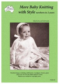 Paragon book PARK11R More Baby Knitting with Style (newborn to 2 years) showing Front cover.