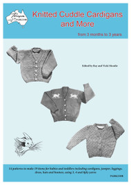 Paragon Baby knitting book PARK210R Knitted Cuddle Cardigans and More, Front cover image.