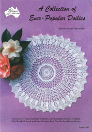 Image of front cover of Australian Craft Moods (Paragon) Crochet book PARC155R, A Collection of Ever-Popular Doilies.