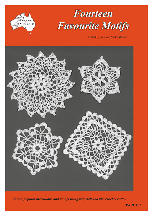 Craft Moods (Paragon Book) PARC157 (A4), Fourteen Favourite Motifs, edited by Ray and Vicki Moodie, front cover image showing motif designs.