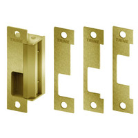 4100-US4 Trine Access Technology 4100 Series Fail Secure Cylindrical and Mortise Lock Electric Strike in Satin Brass