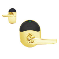 NDE-80-GD-ATH-605 Schlage NDE Series Cylindrical Storeroom Lock in Bright Brass Finish
