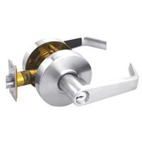 RL11-SR-26 Arrow Cylindrical Lock RL Series Entrance Lever with Sierra Trim Design in Bright Chrome