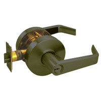 RL12-SR-10B Arrow Cylindrical Lock RL Series Storeroom Lever with Sierra Trim Design in Oil Rubbed Bronze