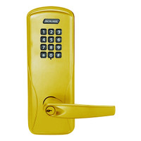 CO100-MS-70-KP-ATH-PD-605 Schlage Standalone Mortise Electronic Keypad locks in Bright Brass