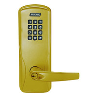 CO100-MS-70-KP-ATH-PD-606 Schlage Standalone Mortise Electronic Keypad locks in Satin Brass
