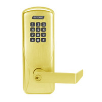 CO100-MS-50-KP-RHO-PD-605 Schlage Standalone Mortise Electronic Keypad locks in Bright Brass