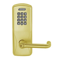 CO100-MS-70-KP-TLR-PD-606 Schlage Standalone Mortise Electronic Keypad locks in Satin Brass