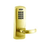 CO100-MS-70-KP-SPA-PD-606 Schlage Standalone Mortise Electronic Keypad locks in Satin Brass