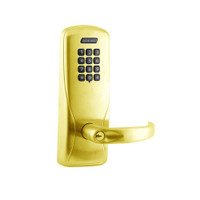 CO200-MS-40-KP-SPA-PD-605 Mortise Electronic Keypad Locks in Bright Brass