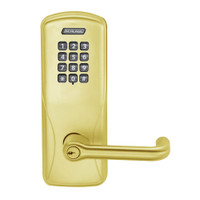 CO200-MS-40-KP-TLR-PD-605 Mortise Electronic Keypad Locks in Bright Brass