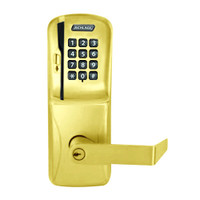 CO200-MS-40-MSK-RHO-PD-605 Mortise Electronic Swipe with Keypad Locks in Bright Brass