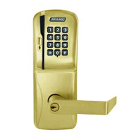 CO200-MD-40-MSK-RHO-PD-606 Mortise Deadbolt Standalone Electronic Magnetic Stripe with Keypad Locks in Satin Brass