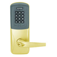 CO200-CY-50-PRK-ATH-PD-605 Schlage Standalone Cylindrical Electronic Proximity with Keypad Locks in Bright Brass