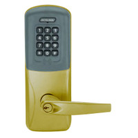 CO200-CY-50-PRK-ATH-PD-606 Schlage Standalone Cylindrical Electronic Proximity with Keypad Locks in Satin Brass