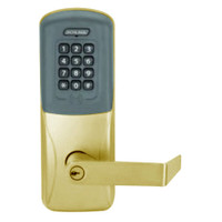 CO200-CY-50-PRK-RHO-PD-606 Schlage Standalone Cylindrical Electronic Proximity with Keypad Locks in Satin Brass