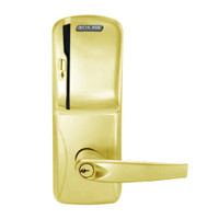 CO250-CY-50-MS-ATH-PD-605 Schlage Office Rights on Magnetic Stripe Cylindrical Locks in Bright Brass