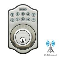 LS-DB5i-SN-A Lockstate Remote Lock Wi-Fi Keypad Deadbolt in Satin Nickel