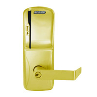 CO250-CY-70-MS-RHO-PD-605 Schlage Classroom/Storeroom Rights on Magnetic Stripe Cylindrical Locks in Bright Brass