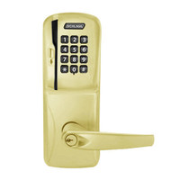 CO250-CY-70-MSK-ATH-PD-605 Schlage Classroom/Storeroom Rights on Magnetic Stripe with Keypad Cylindrical Locks in Bright Brass