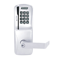 CO250-CY-50-MSK-RHO-PD-625 Schlage Office Rights on Magnetic Stripe with Keypad Cylindrical Locks in Bright Chrome