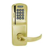 CO250-CY-70-MSK-SPA-PD-606 Schlage Classroom/Storeroom Rights on Magnetic Stripe with Keypad Cylindrical Locks in Satin Brass