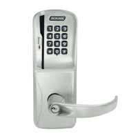 CO250-CY-50-MSK-SPA-PD-619 Schlage Office Rights on Magnetic Stripe with Keypad Cylindrical Locks in Satin Nickel
