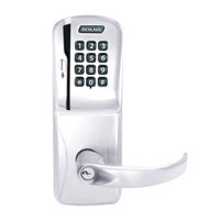 CO250-CY-50-MSK-SPA-PD-625 Schlage Office Rights on Magnetic Stripe with Keypad Cylindrical Locks in Bright Chrome