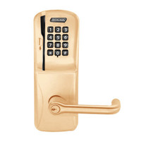 CO250-CY-70-MSK-TLR-PD-612 Schlage Classroom/Storeroom Rights on Magnetic Stripe with Keypad Cylindrical Locks in Satin Bronze