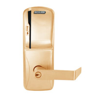 CO250-MS-70-MS-RHO-PD-612 Schlage Classroom/Storeroom Rights on Magnetic Stripe Mortise Locks in Satin Bronze