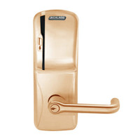 CO250-MS-70-MS-TLR-PD-612 Schlage Classroom/Storeroom Rights on Magnetic Stripe Mortise Locks in Satin Bronze