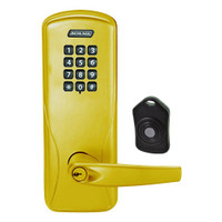 CO220-CY-75-KP-ATH-PD-605 Schlage Standalone Classroom Lockdown Solution Cylindrical Keypad locks in Bright Brass