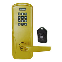 CO220-CY-75-KP-ATH-PD-606 Schlage Standalone Classroom Lockdown Solution Cylindrical Keypad locks in Satin Brass