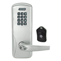 CO220-CY-75-KP-ATH-PD-619 Schlage Standalone Classroom Lockdown Solution Cylindrical Keypad locks in Satin Nickel