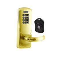CO220-CY-75-KP-SPA-PD-606 Schlage Standalone Classroom Lockdown Solution Cylindrical Keypad locks in Satin Brass