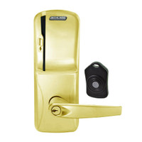 CO220-CY-75-MS-ATH-PD-605 Schlage Standalone Classroom Lockdown Solution Cylindrical Swipe locks in Bright Brass