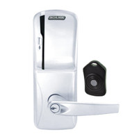 CO220-CY-75-MS-ATH-PD-625 Schlage Standalone Classroom Lockdown Solution Cylindrical Swipe locks in Bright Chrome