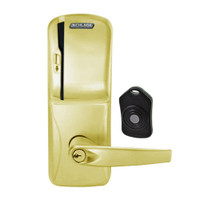 CO220-MS-75-MS-ATH-PD-606 Schlage Standalone Classroom Lockdown Solution Mortise Swipe locks in Satin Brass