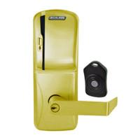 CO220-CY-75-MS-RHO-PD-606 Schlage Standalone Classroom Lockdown Solution Cylindrical Swipe locks in Satin Brass