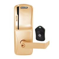 CO220-CY-75-MS-RHO-PD-612 Schlage Standalone Classroom Lockdown Solution Cylindrical Swipe locks in Satin Bronze