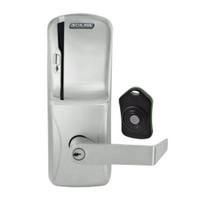 CO220-CY-75-MS-RHO-PD-619 Schlage Standalone Classroom Lockdown Solution Cylindrical Swipe locks in Satin Nickel