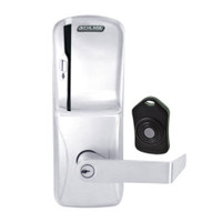 CO220-CY-75-MS-RHO-PD-625 Schlage Standalone Classroom Lockdown Solution Cylindrical Swipe locks in Bright Chrome