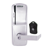 CO220-CY-75-MS-RHO-PD-626 Schlage Standalone Classroom Lockdown Solution Cylindrical Swipe locks in Satin Chrome
