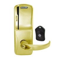 CO220-CY-75-MS-SPA-PD-606 Schlage Standalone Classroom Lockdown Solution Cylindrical Swipe locks in Satin Brass