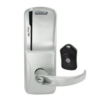 CO220-CY-75-MS-SPA-PD-619 Schlage Standalone Classroom Lockdown Solution Cylindrical Swipe locks in Satin Nickel